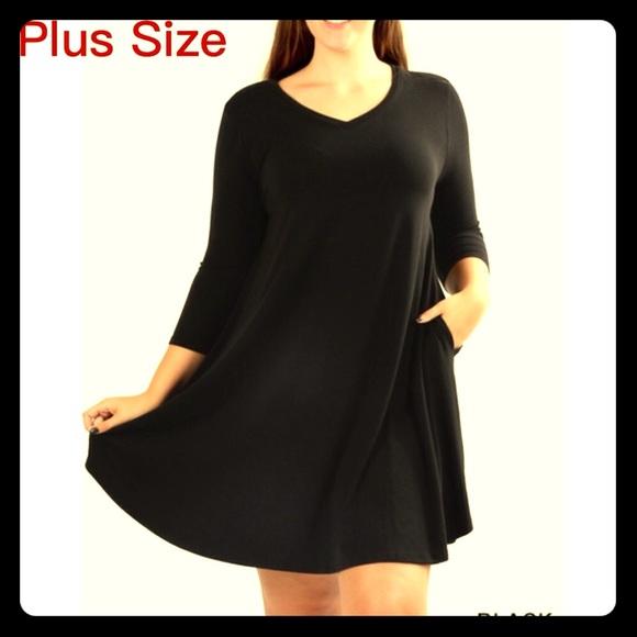 Zenana Outfitters Dresses Plus Size Aline Dress In Black Poshmark